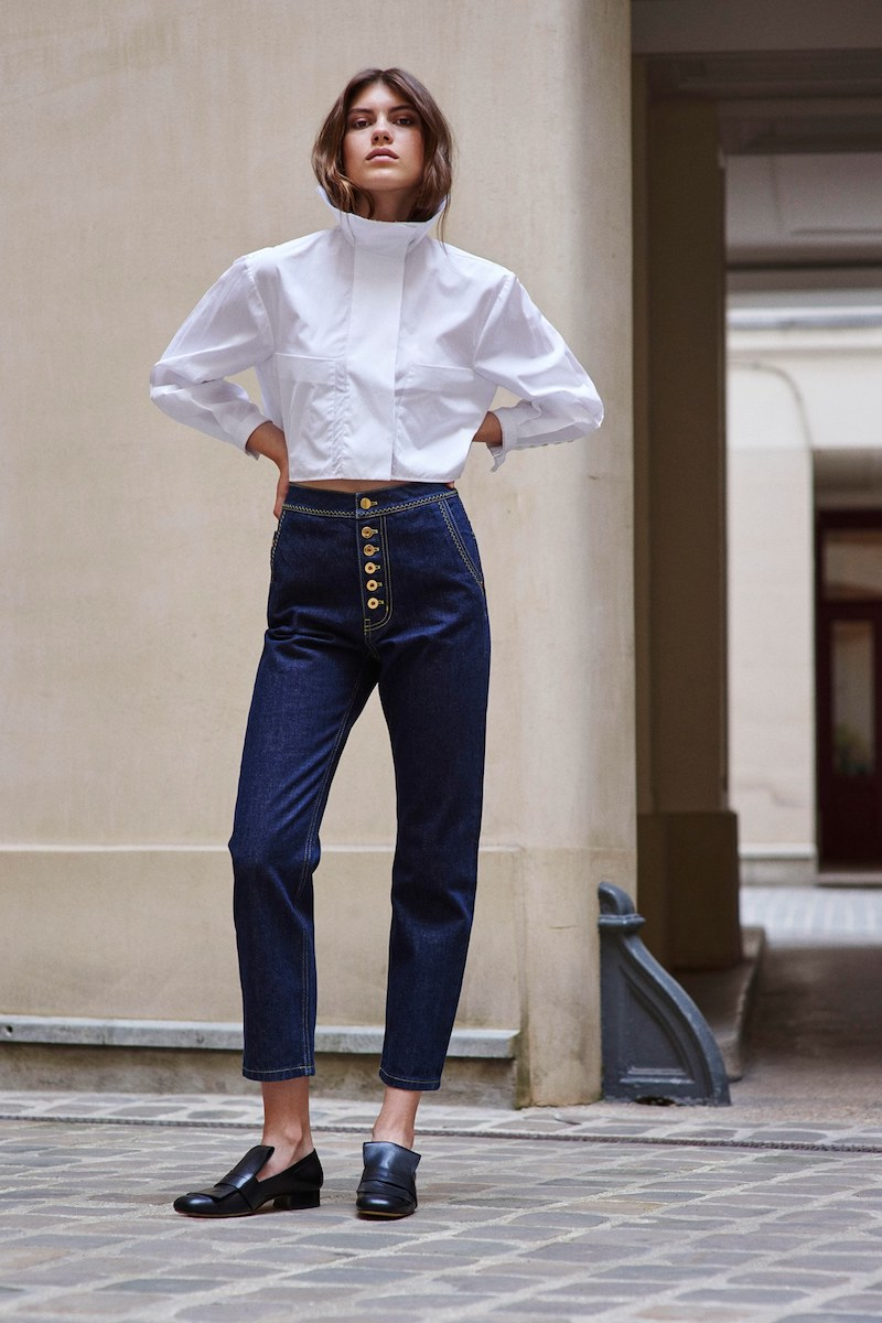 Ellery Type A Ruffle-Collar Cotton Shirt
