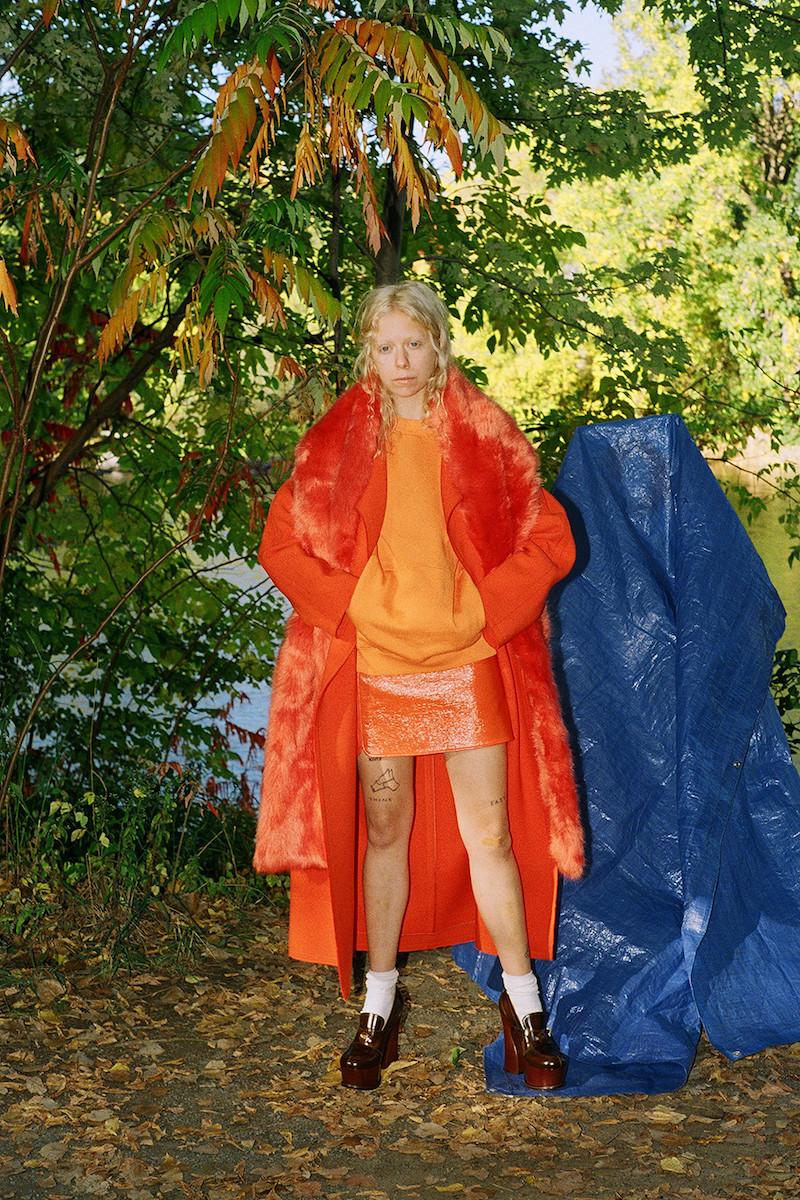 Emilio Pucci Orange Oversized Wool Coat