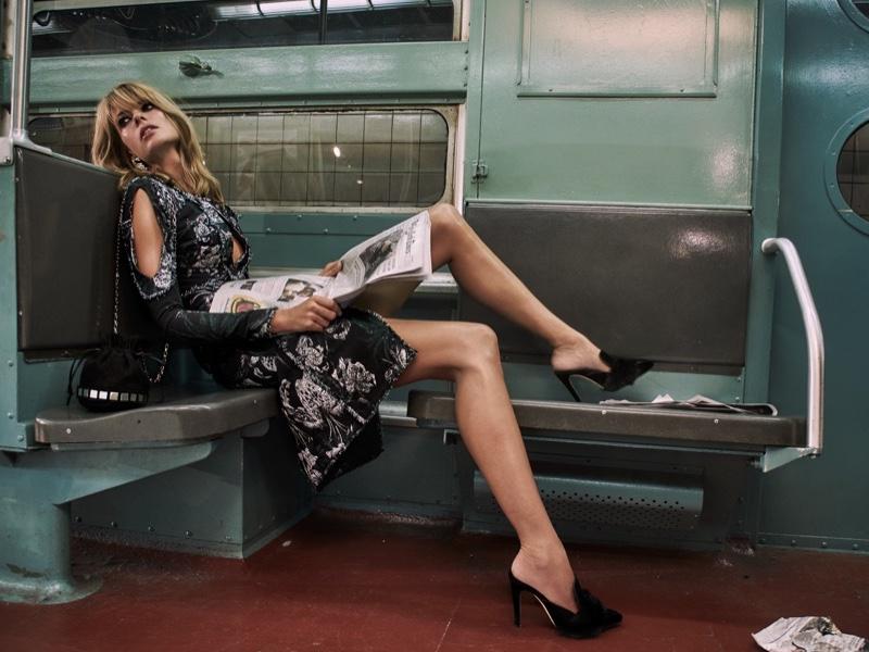 Erdem Chrissy Frayed Cutout Metallic Jacquard Dress
