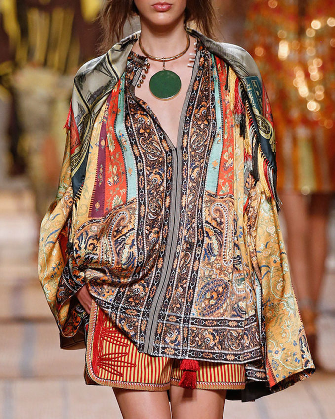 Etro Argan Printed Caftan Top