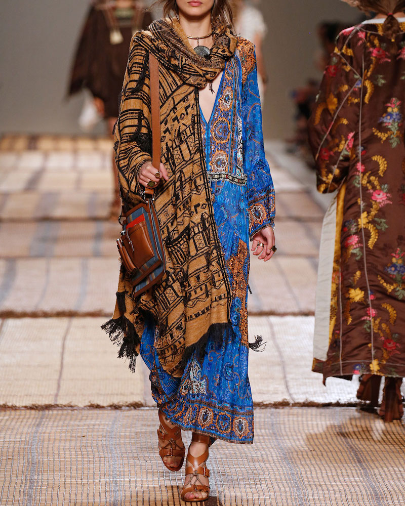 Etro Saffron Printed Caftan Dress