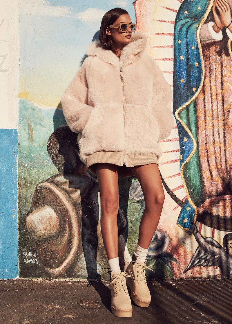 Faith Connexion Reversible Lamb Fur Oversized Jacket