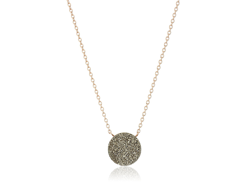 Fossil Shimmer Stone Pendant Necklace