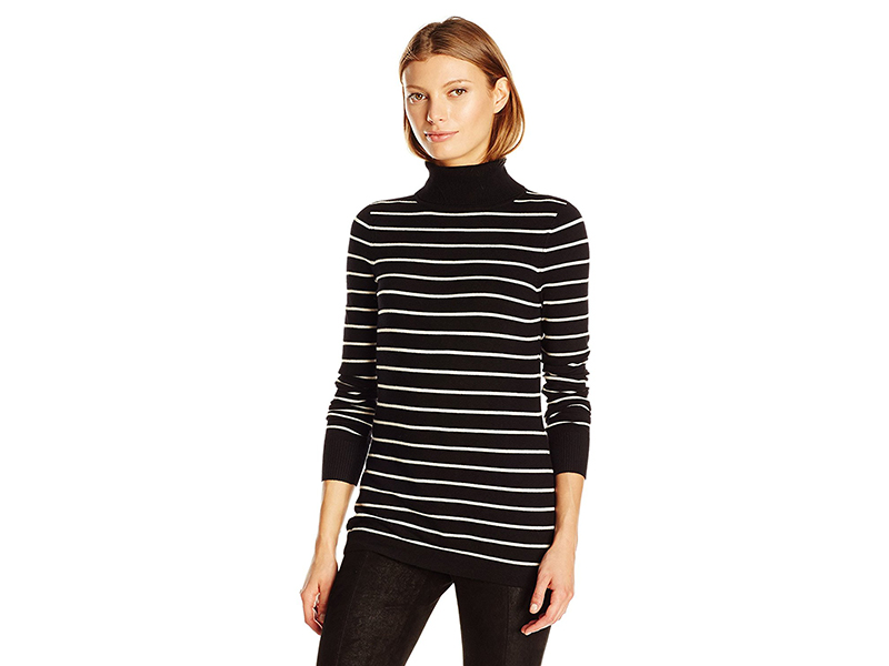 French Connection Bambi Stripe Turtleneck