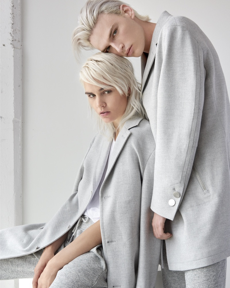 GUESS His & Hers Heathered Overcoat