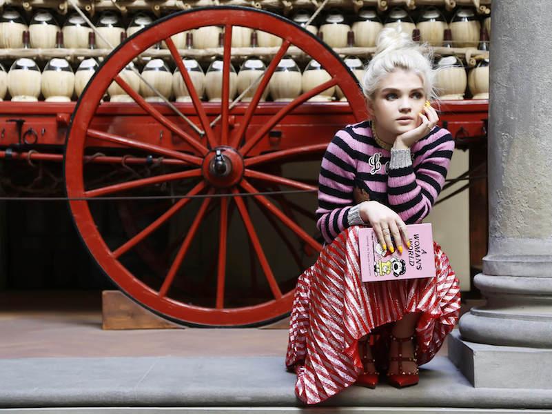 Gucci Plisse Lurex Midi Skirt