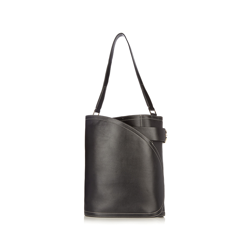 Hillier Bartley Cigar Leather Bucket Bag