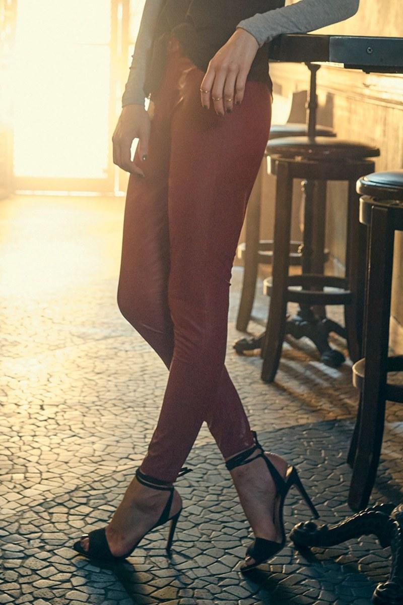 Hue Leatherette Faux Leather Leggings