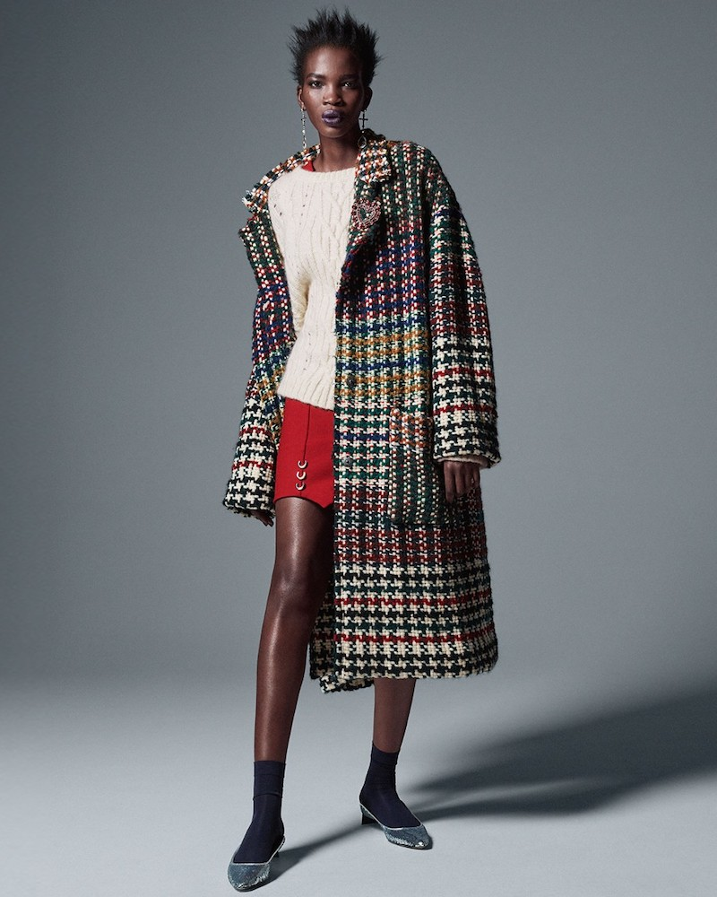 Isabel Marant Dallan Hound s-Tooth Tweed Coat