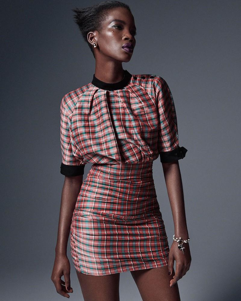 Isabel Marant Milton Checked Linen-Blend Dress