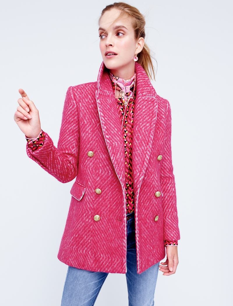 J.Crew Diamond Tweed Coat