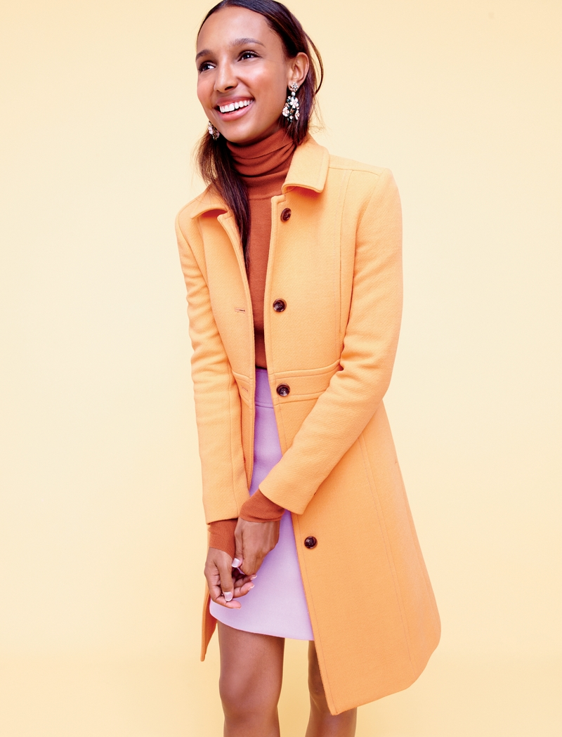 J.Crew Double-Cloth Lady Day Coat With Thinsulate