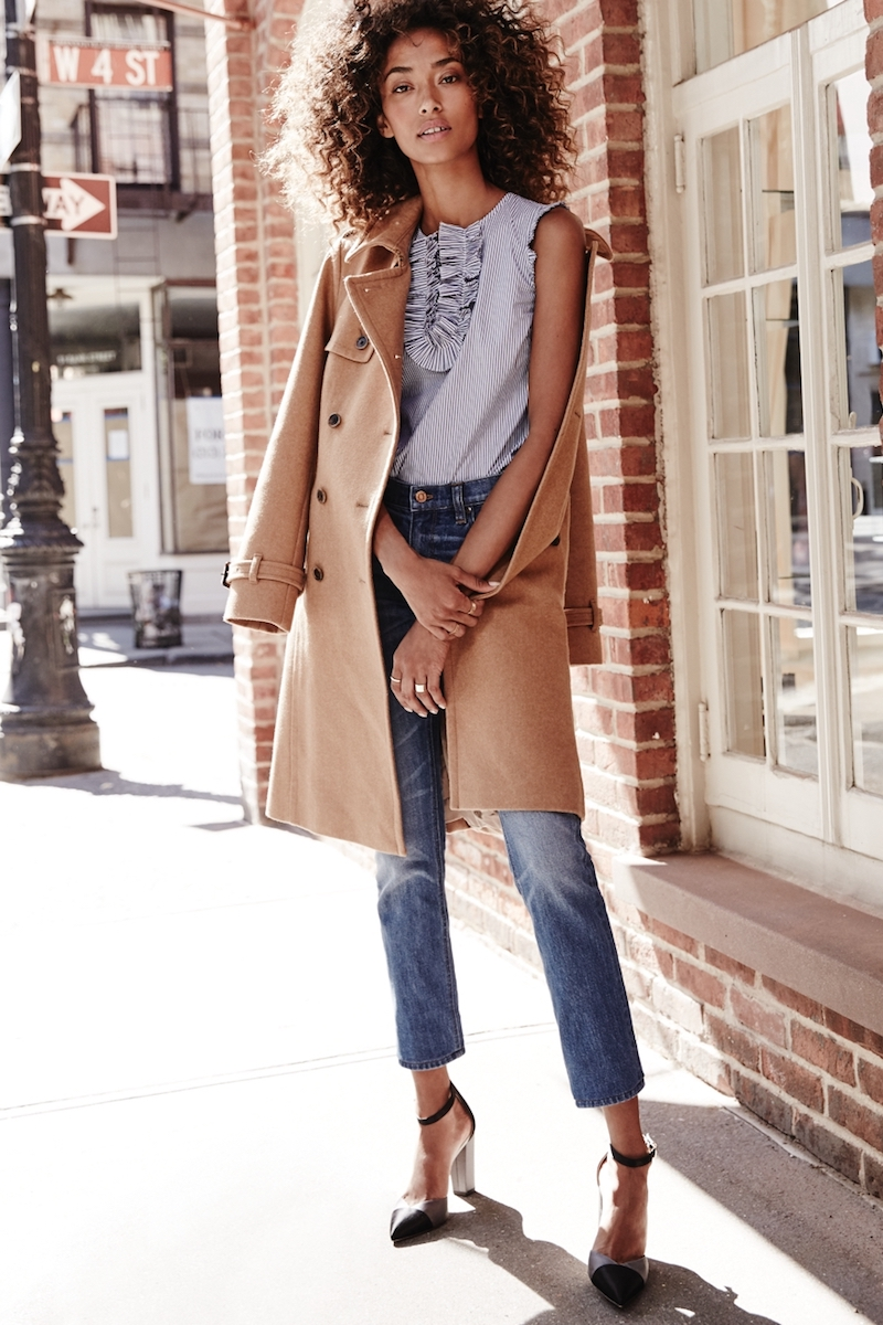 J.Crew Icon Trench Coat In Wool-Cashmere