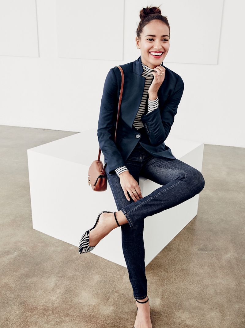 J.Crew Lookout High-Rise Jean in Resin Wash