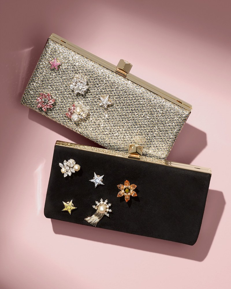 Jimmy Choo Jewelled Collection Celeste Buttons Clutch