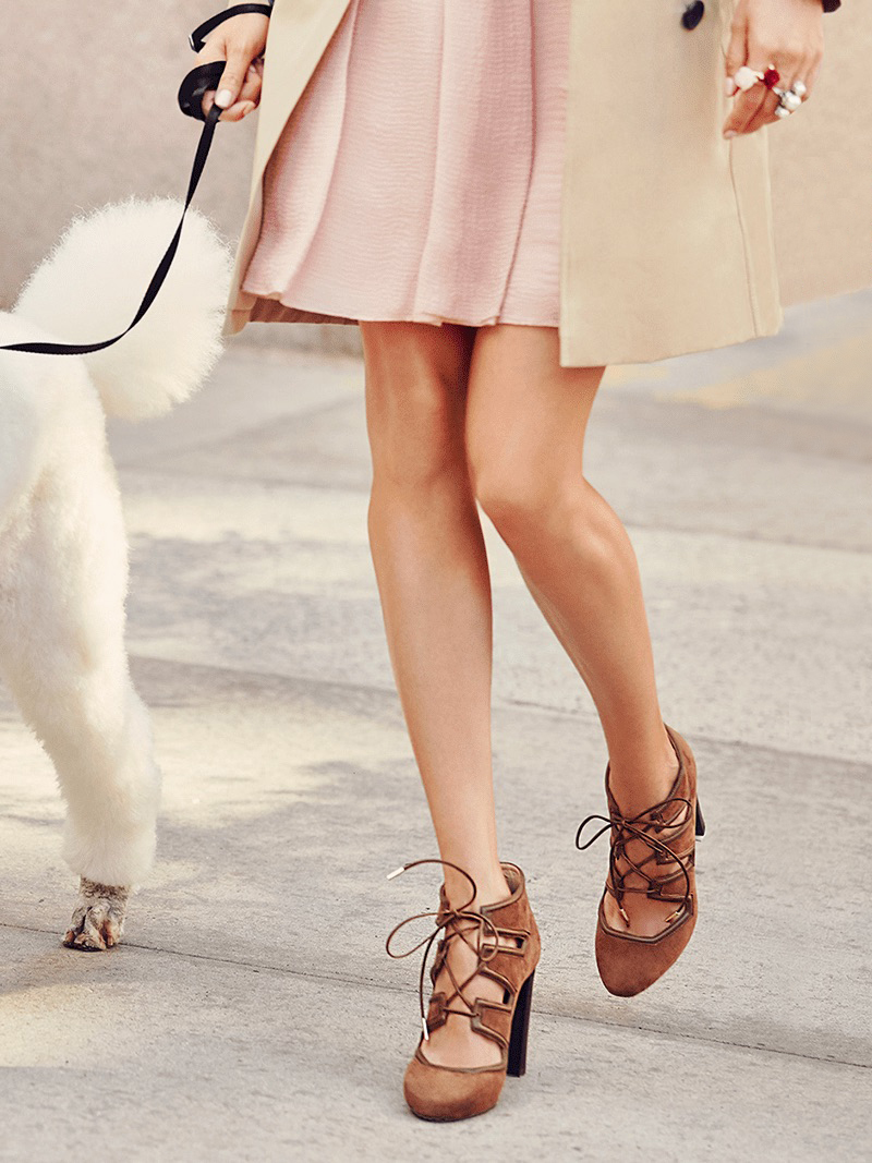 Jimmy Choo Latch Suede & Leather Lace-Up Pumps