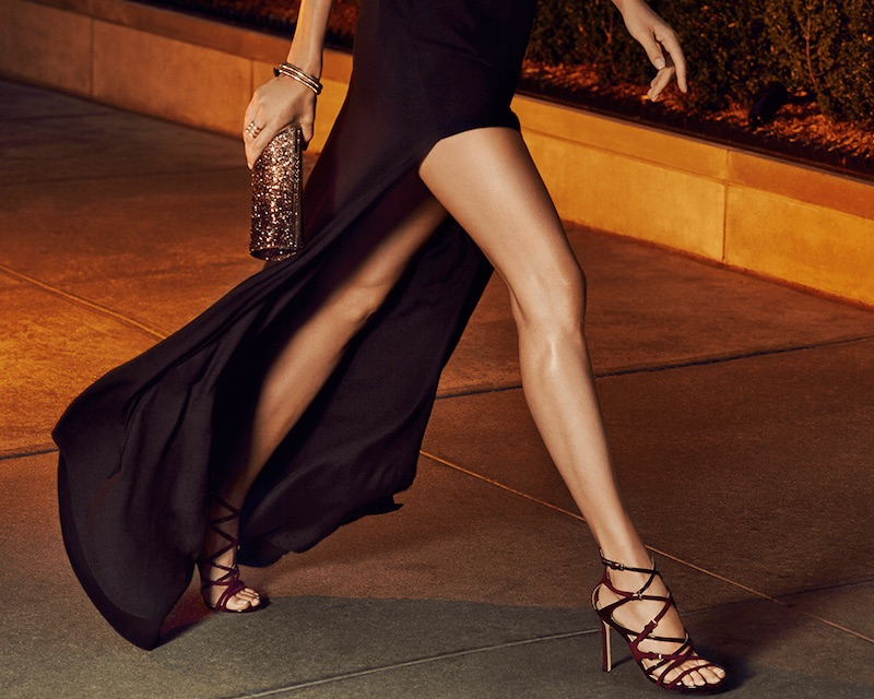 Jimmy Choo Livvy Strappy Suede & Patent Leather Sandals