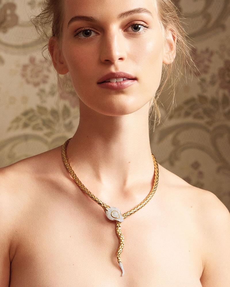 John Hardy Legends Cobra Collar Necklace with Diamonds