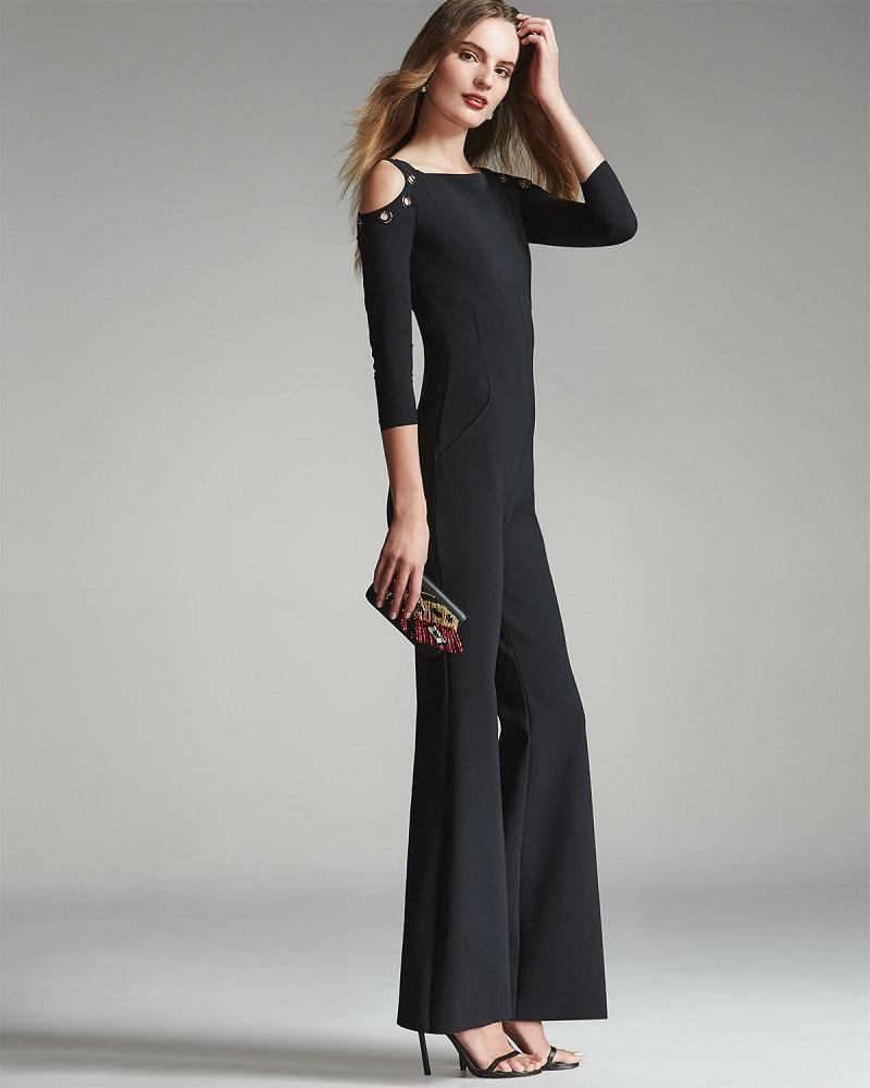 La Petite Robe di Chiara Boni Flare-Leg Jersey Jumpsuit