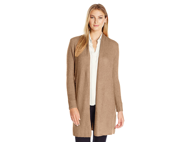 Lark & Ro Long Open-Front Cardigan