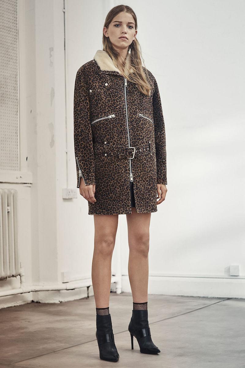 AllSaints Leopard Collins Coat