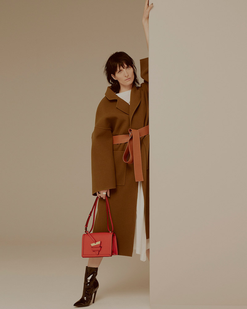 Loewe Leather-Belt Wool-Blend Coat