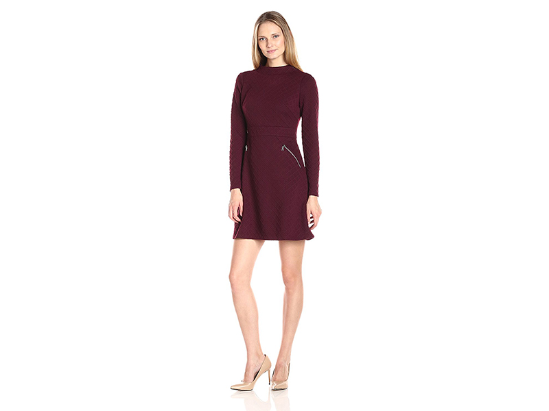 Maggy London Diamond Knit Jacquard Fit and Flare