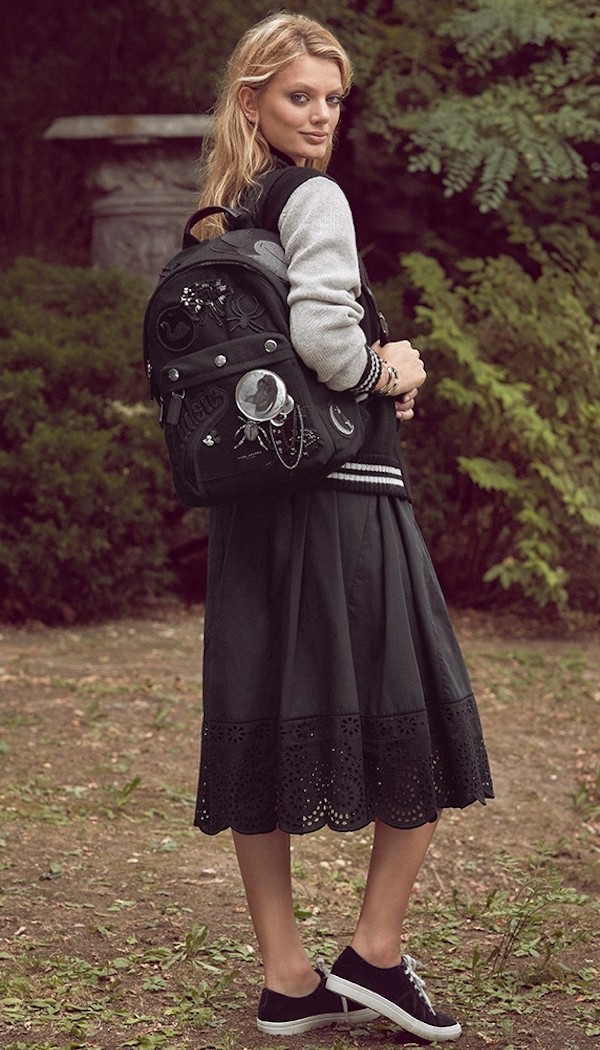 Marc Jacobs Full Skirt with Lace Trim