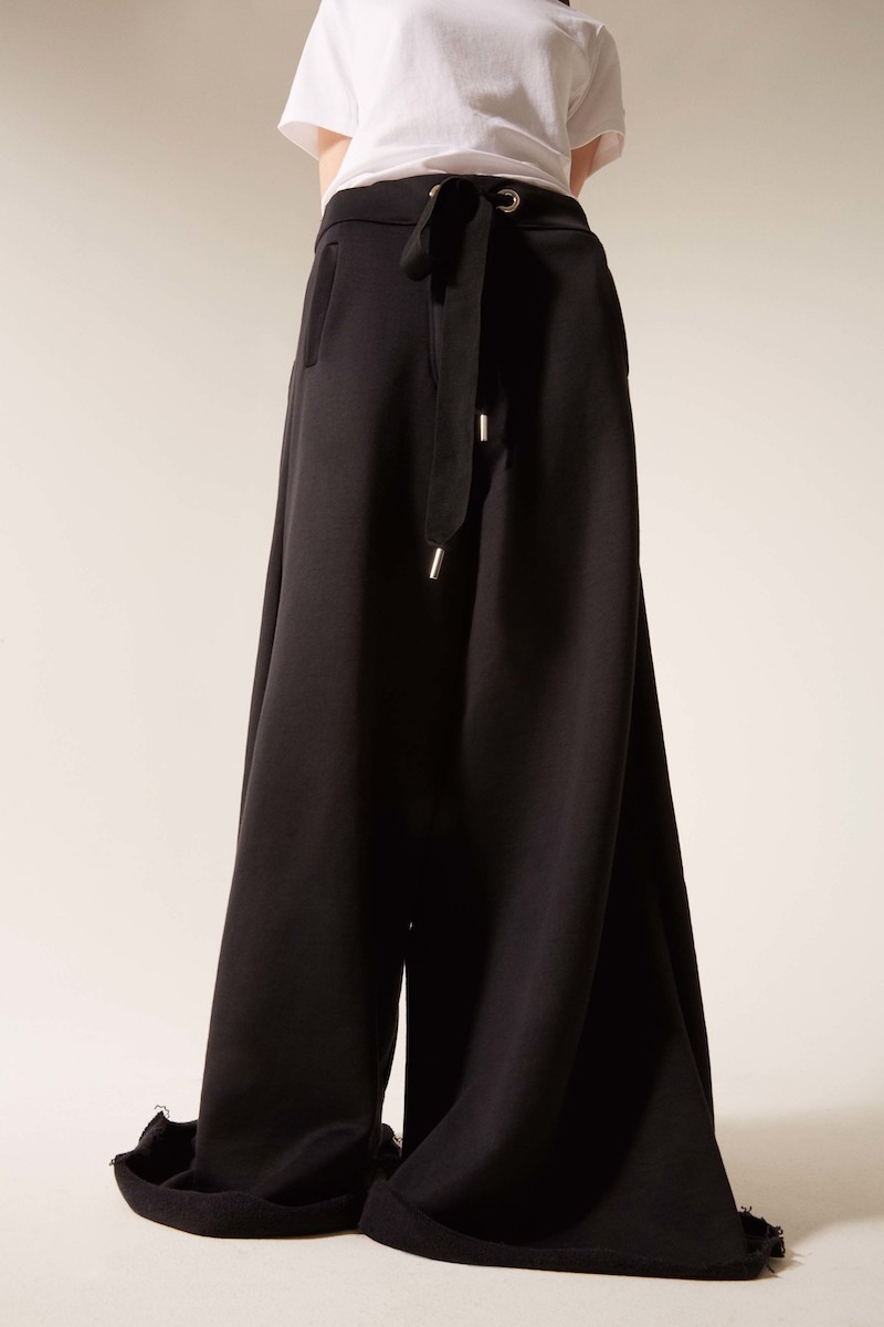 Marques Almeida Black Wide-Leg Lounge Pants
