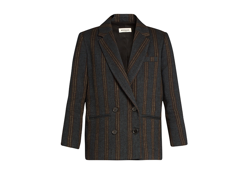 Masscob Double-Breasted Striped Jacket