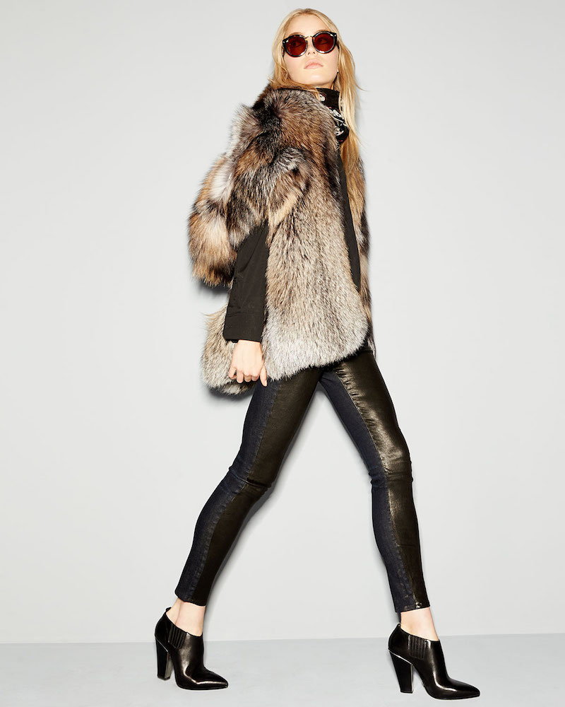 Michael Kors Cross Fox Fur Stole