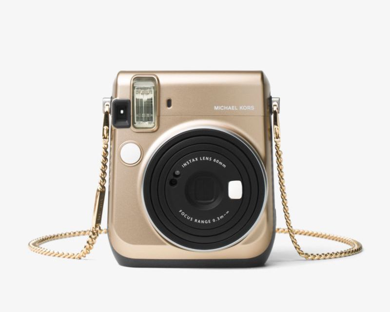 Michael Kors Gold-Tone Chain-Link Camera Strap