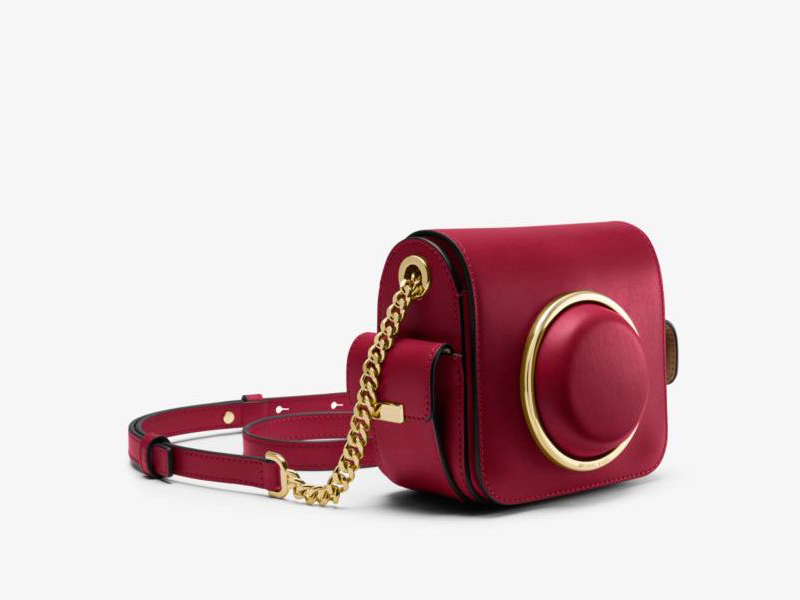 Michael Kors Scout Medium Leather Camera Bag in Cherry