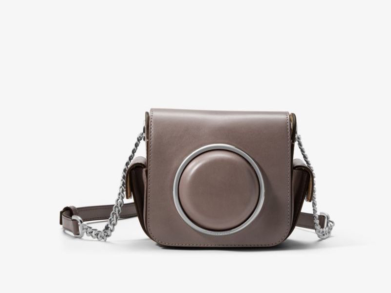 Michael Kors Scout Medium Leather Camera Bag in Cinder