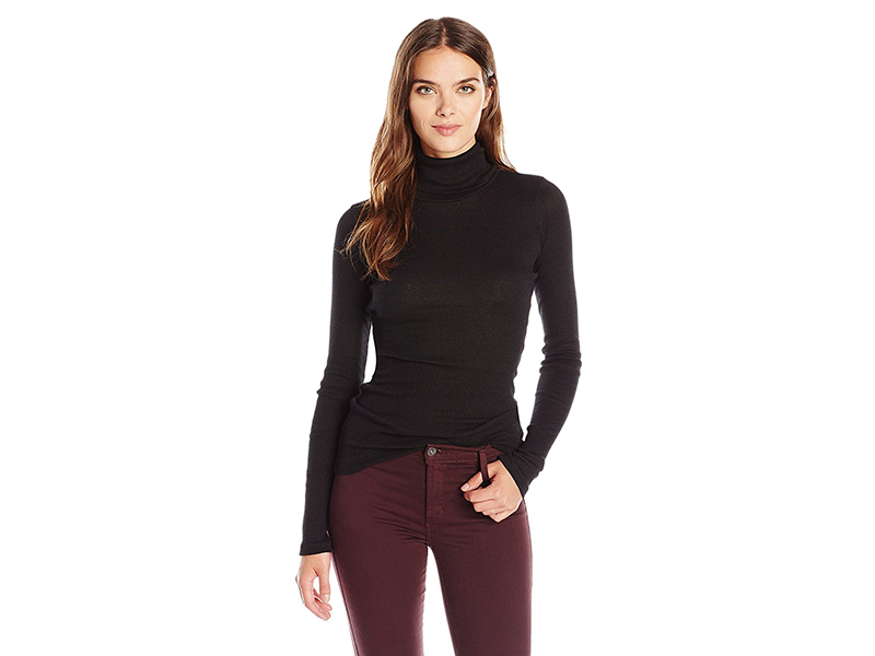 Michael Stars 2x1 Shine Longsleeve Turtleneck