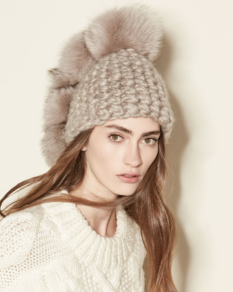 Mischa Lampert Pohawk Wool Pompom Beanie Hat