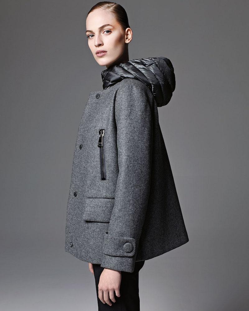 Moncler Euphemia Woolen Coat with Puffer Vest