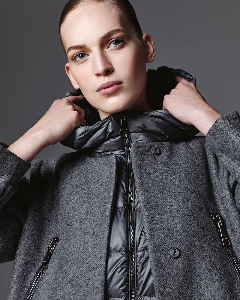 Moncler Euphemia Woolen Coat with Puffer Vest 1