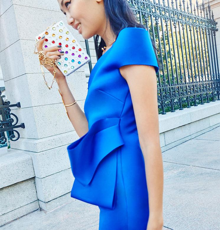 Nero by Jatin Varma One-Shoulder Bow Detail Dress
