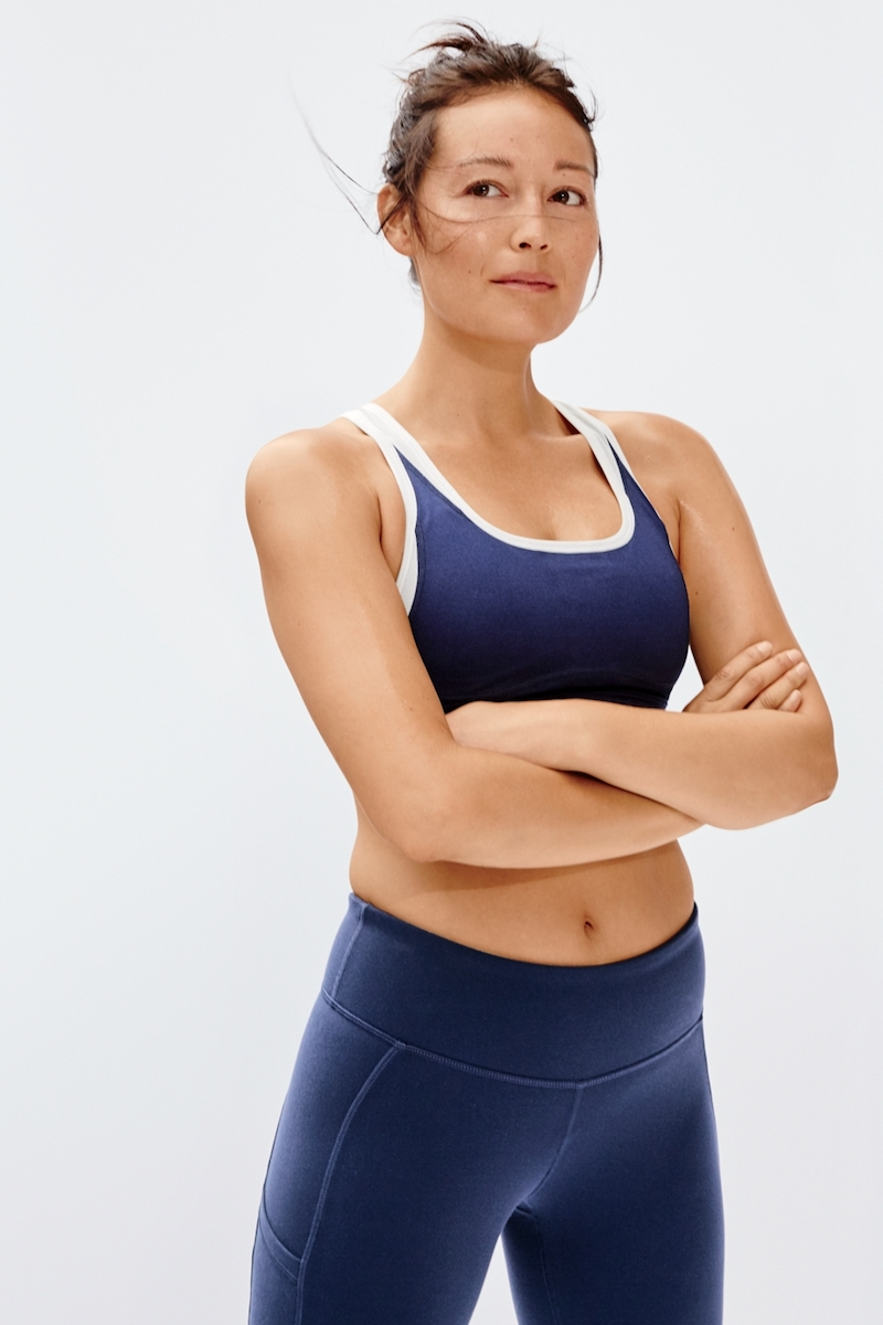 New Balance for J.Crew Performance Leggings In Colorblock in Blue