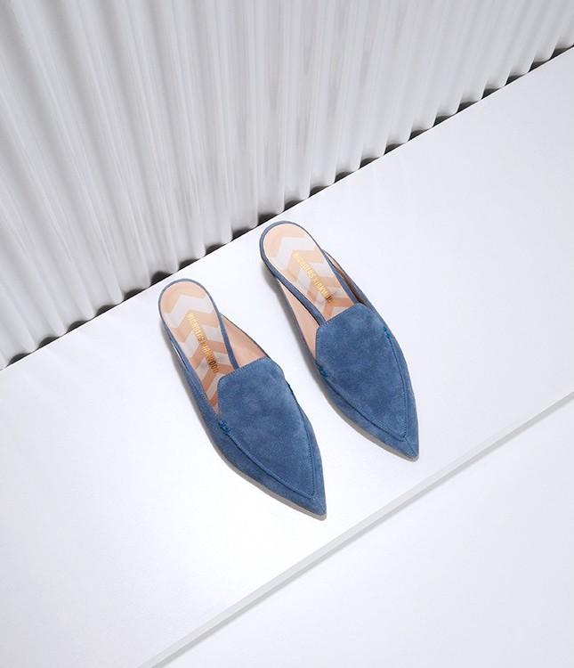 Nicholas Kirkwood Beya Suede Backless Loafers
