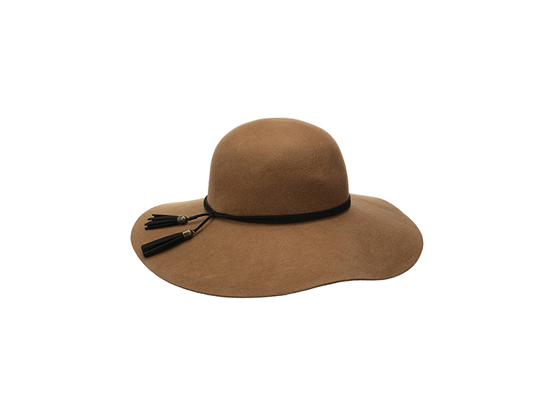Nine West Felt Floppy Hat with Tassel Detail