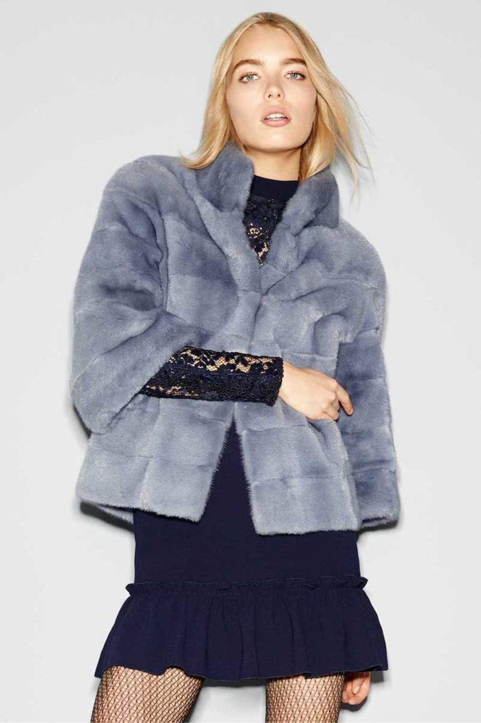 Norman Ambrose Horizontal Mink-Fur Jacket