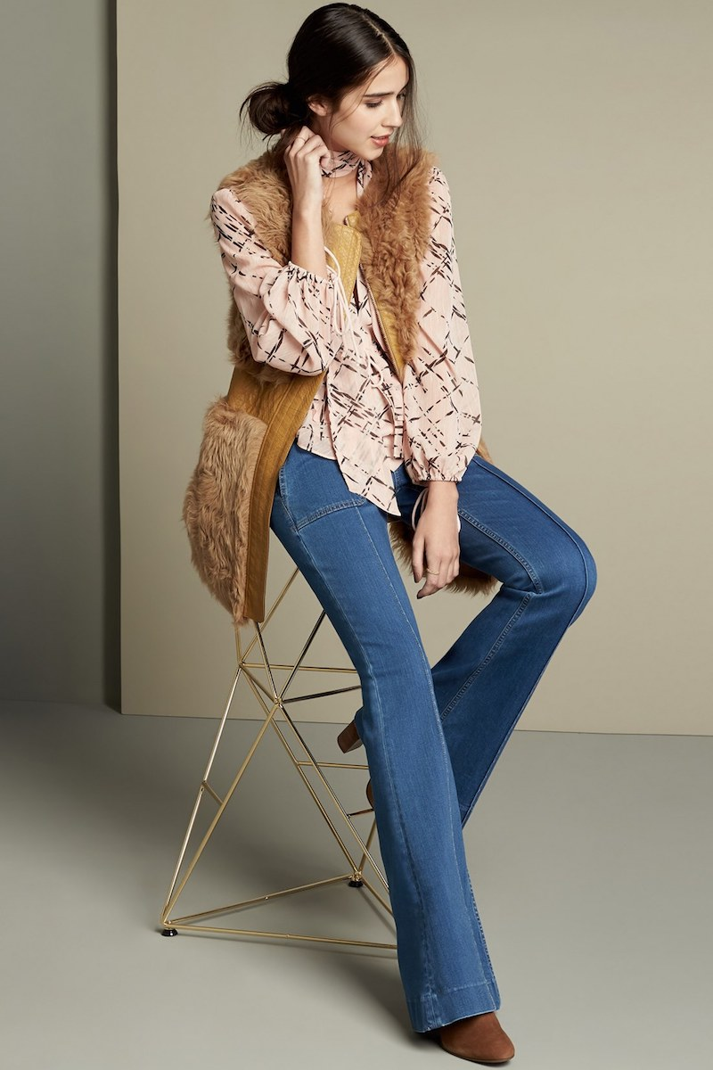 Olivia Palermo + Chelsea28 High Rise Flare Jeans