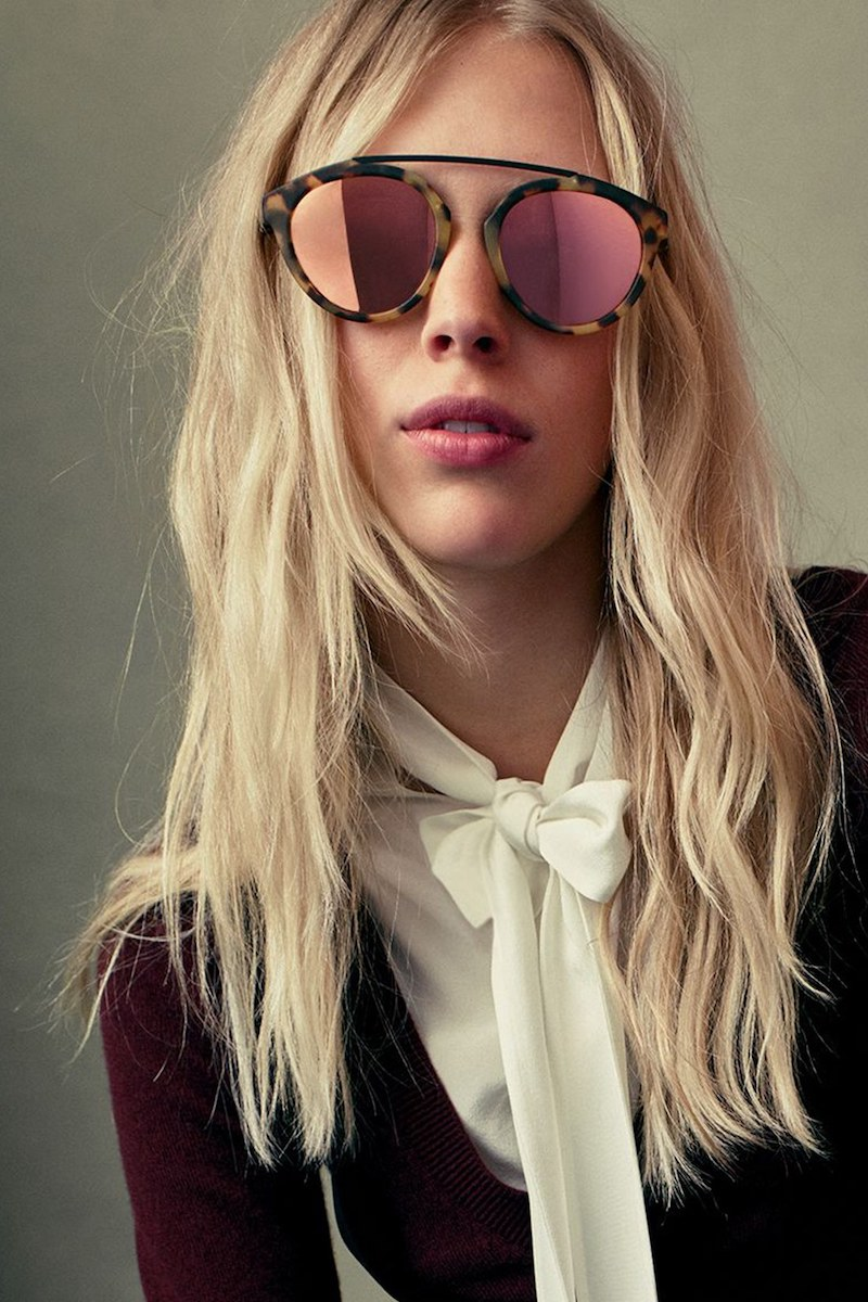 Olivia Palermo x Westward Leaning Flower Mirrored Sunglasses