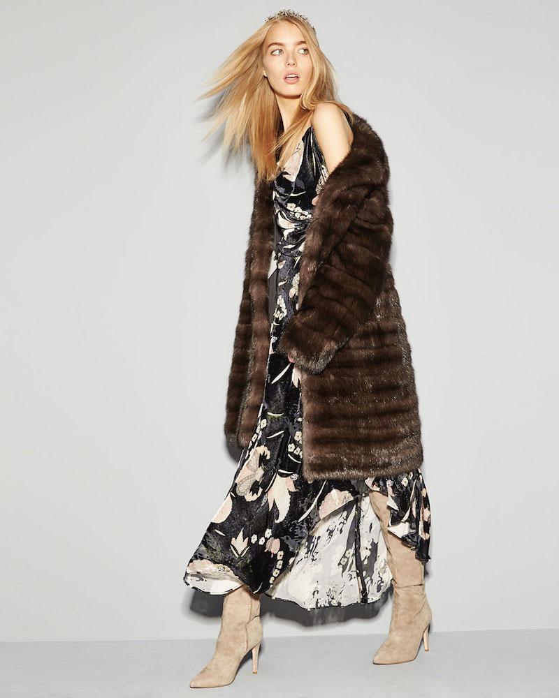 Oscar de la Renta Sable-Fur Stroller Coat
