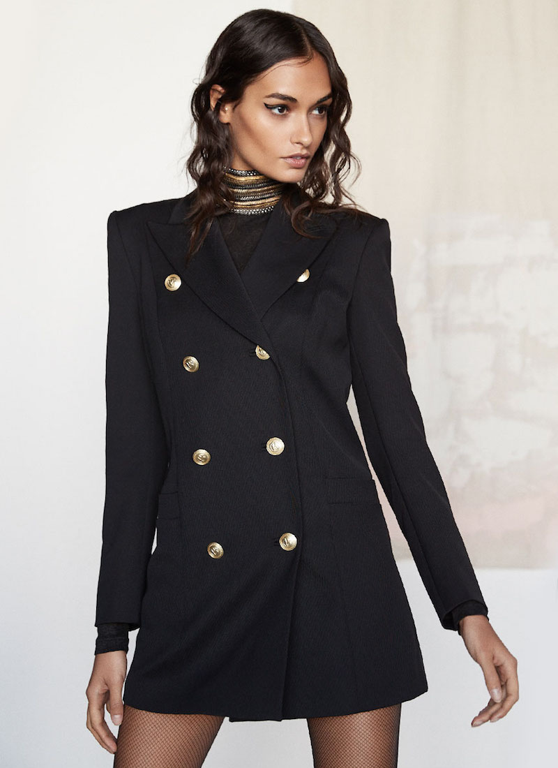 Pierre Balmain Button Military Trench Coat