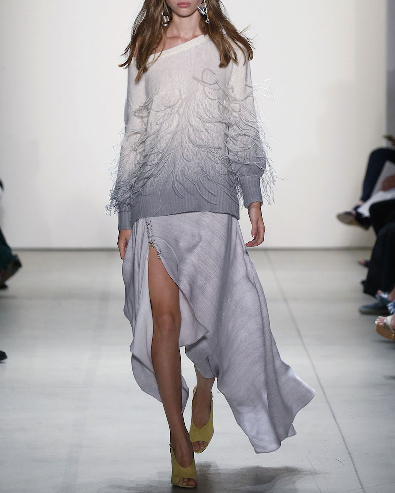 Prabal Gurung Pierced Handkerchief-Hem Skirt