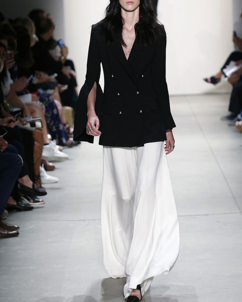 Prabal Gurung Tailored Wide-Leg Silk Pants