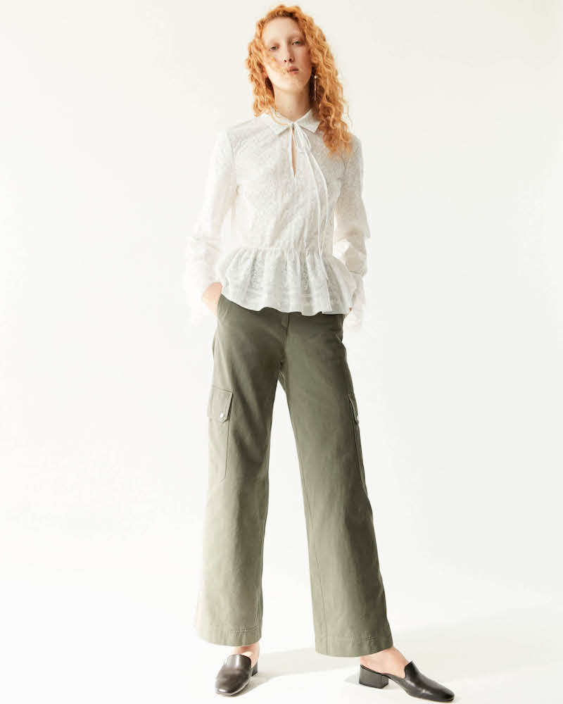 R/R Studio by Robert Rodriguez Cotton Wide-Leg Cargo Pants